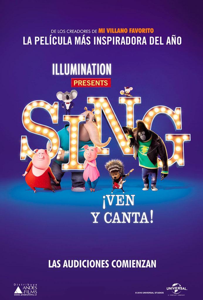 Sing: ¡Ven y canta! (2016) HD 1080p Latino
