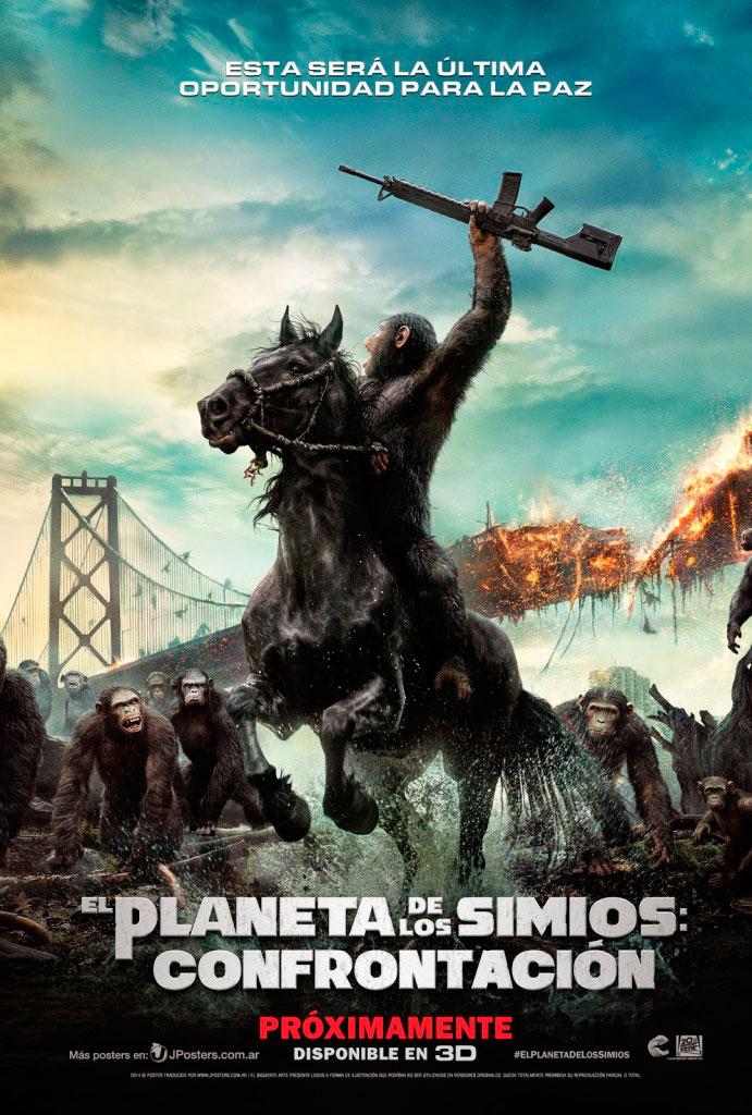 El planeta de los simios: Confrontación (2014) HD 1080p Latino