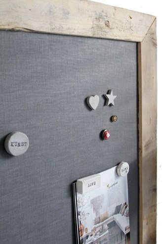 Magneetbord  Zelf je magneetbord maken is niet moeilijk