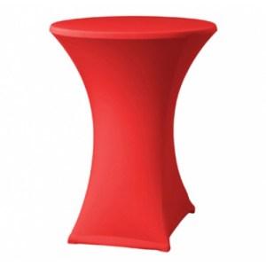Statafel rok rood