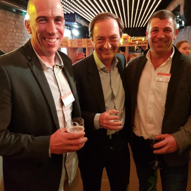 Jean-Luc et Christophe avec Michel Edouard Leclerc