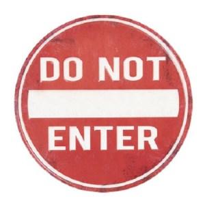 Targa cartello Do Not Enter