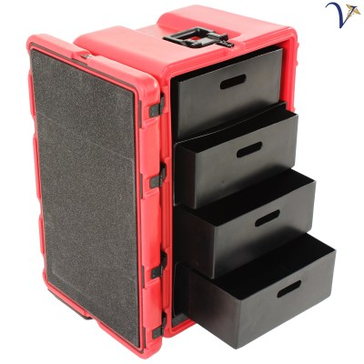 4 Drawer Mobile Medical Case (MC-4D)