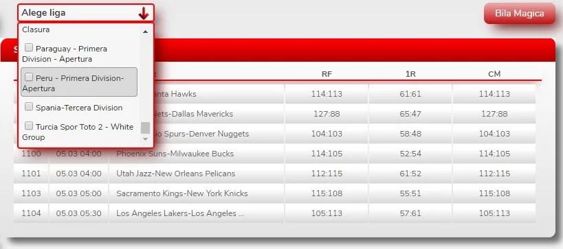 Total Bet Rezultate meciuri și Bila Magică