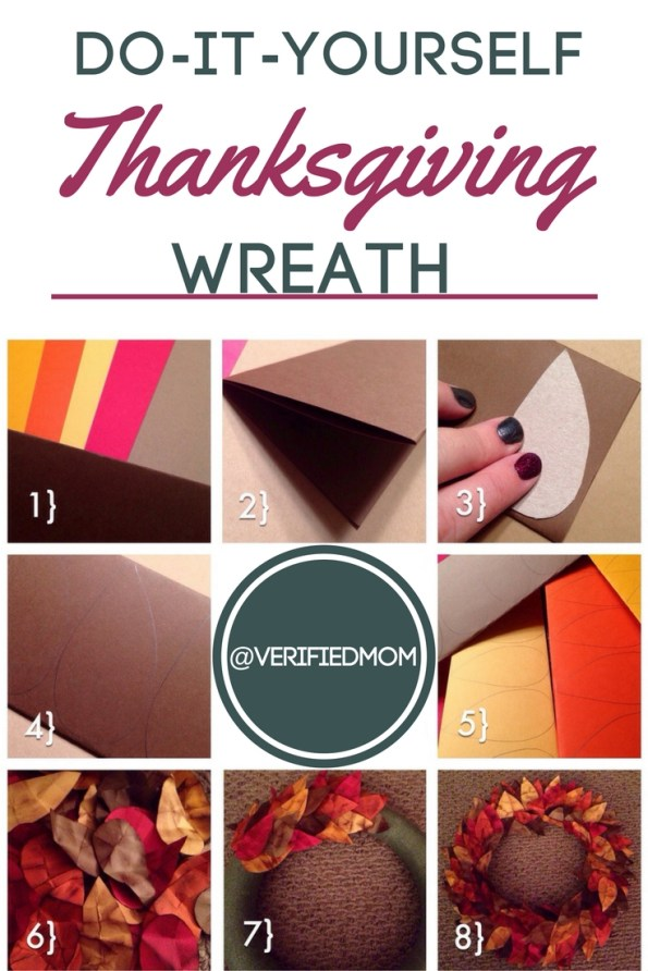 Add thoughts of gratitude to this easy do it yourself thanksgiving wreath