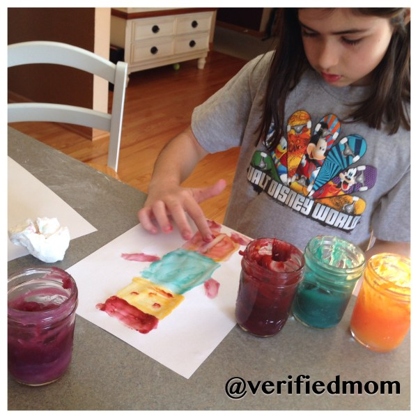 Painting With DIY Non-toxic Finger Paint