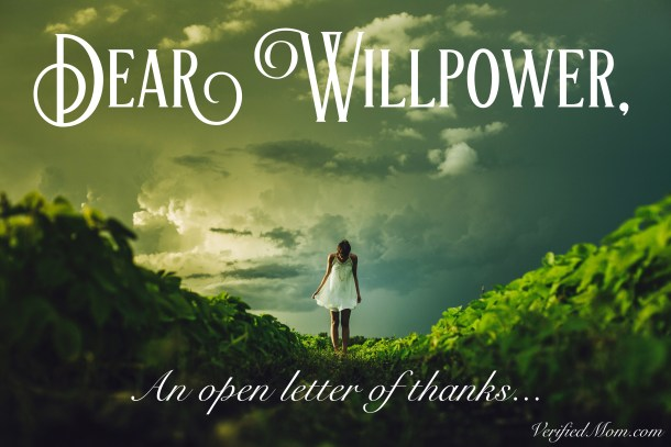 Willpower Wednesday: An Open Letter of Thanks