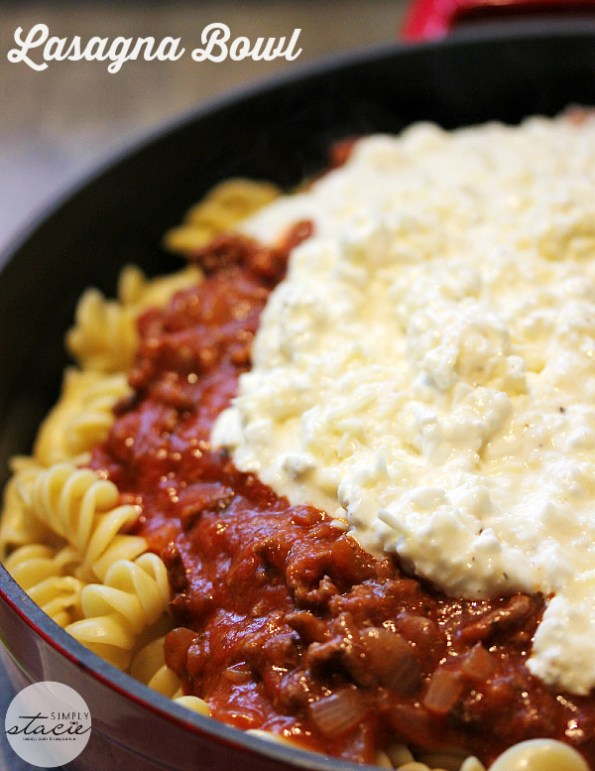 Easy Lasagna Bowl