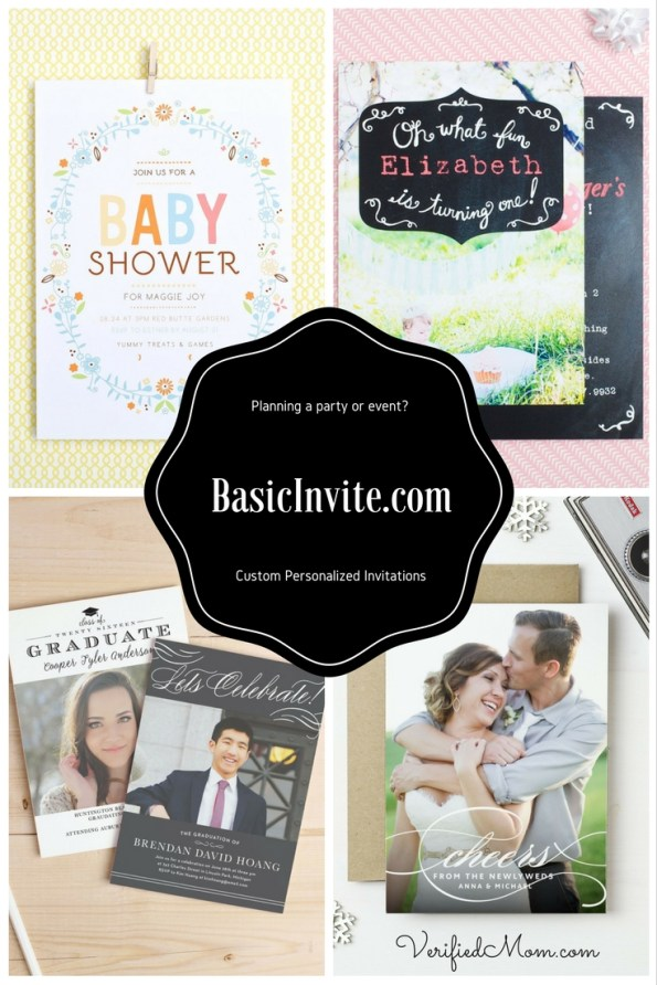 If you're planning a part or event and need custom invites or thank you notes, you have to check out Basic Invite!