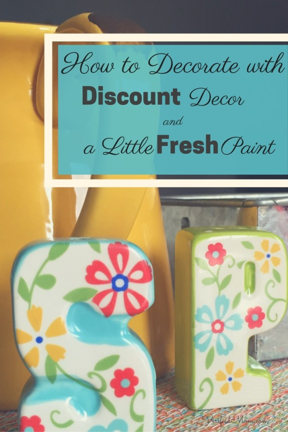 How to Decorate with discount decor and a little fresh paint