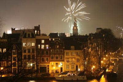 Amsterdam fireworks