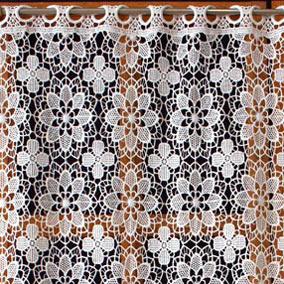 rideaux en macrame brode aspect dentelle