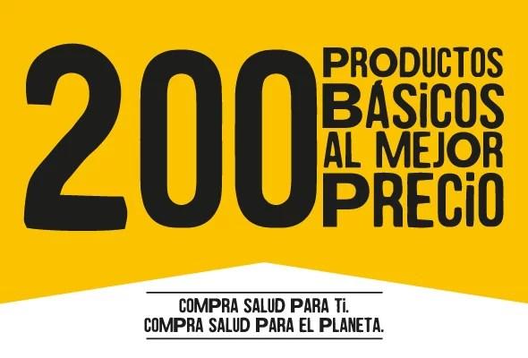 200 productos básicos ecológicos al mejor precio - Veritas
