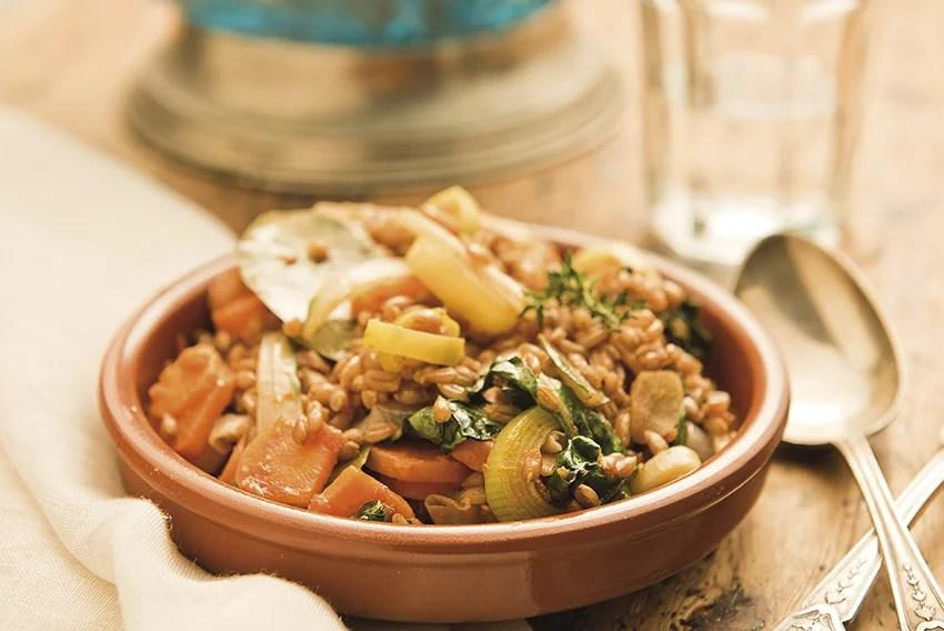 Cassola de verdures amb espelta - Veritas