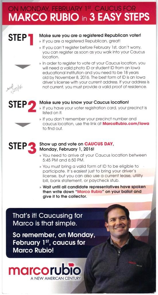 Rubio campaign says ID