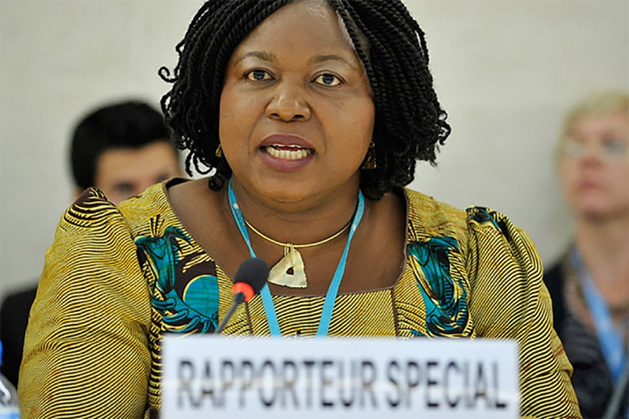 The UN's Special Rapporteur on Trafficking in Persons, Ms. Joy Ngozi Ezeilo