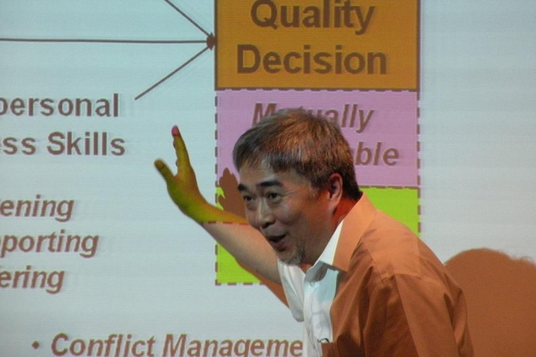 Enrico Bagadion at an EICC Training