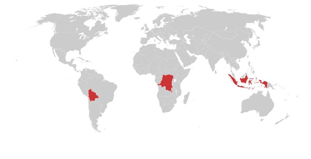 Coltan, Tungsten & Tin Commodity Risk Map