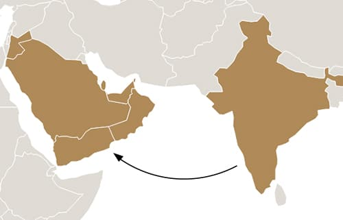 india-to-gulf-migration-map