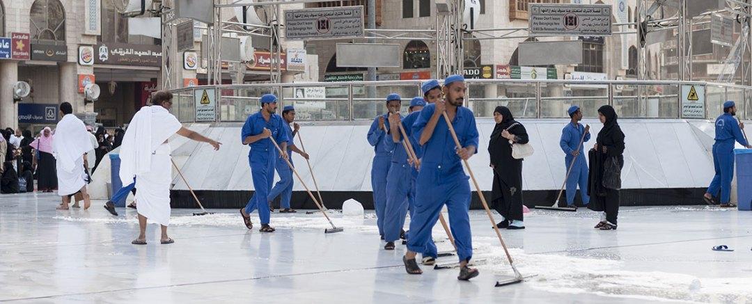 Cleaners working in Saudi Arabia