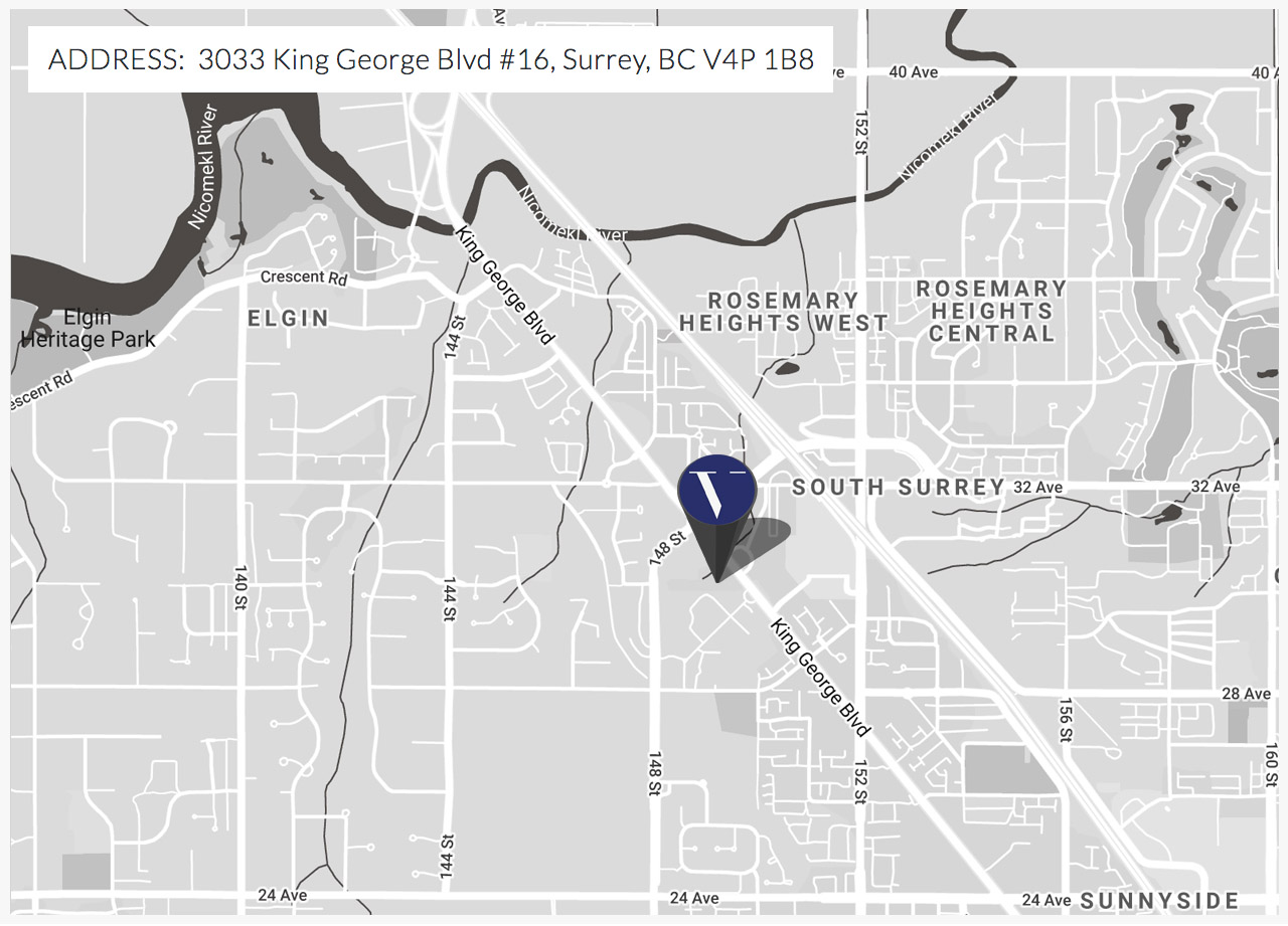 Map Location of Verite Design Group in South Surrey, BC, House Plans, Architects and Building Designers.