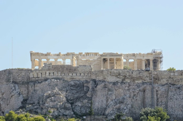 View of the Acropolis - Athens, Greece, Europe - Honeymoon Part 1 - Athens is a beautiful capital city rich with history. With it's impressive Acropolis and quaint pedestrian streets, we headed here for our Honeymoon Part 1! Veritru Travel Blog