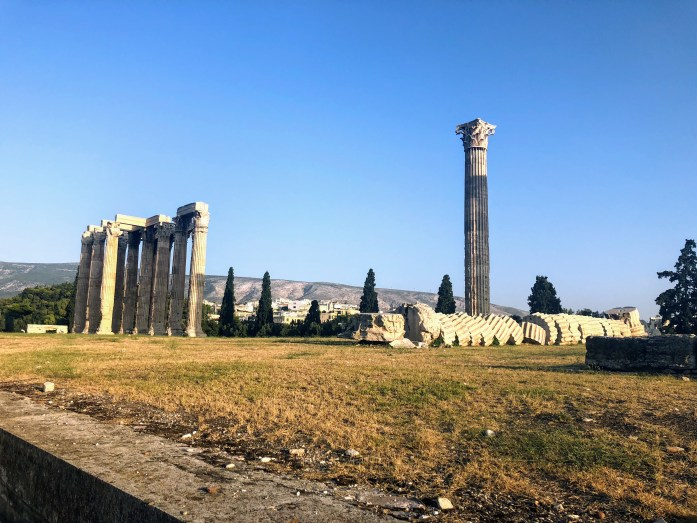 Temple of Olympian Zeus - Athens, Greece, Europe - Honeymoon Part 1 - Athens is a beautiful capital city rich with history. With it's impressive Acropolis and quaint pedestrian streets, we headed here for our Honeymoon Part 1! Veritru Travel Blog