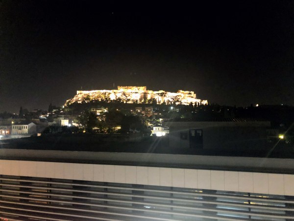 View of the Acropolis at Night - Athens, Greece, Europe - Honeymoon Part 1 - Athens is a beautiful capital city rich with history. With it's impressive Acropolis and quaint pedestrian streets, we headed here for our Honeymoon Part 1! Veritru Travel Blog