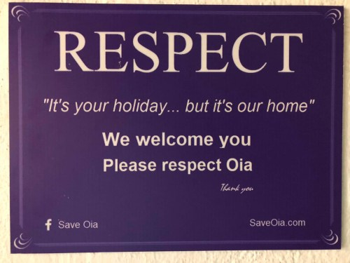 Respect Signs - Honeymoon Part 2 - Oia in Santorini Greece is beautiful with its pretty caldera view, sunsets, windmills and quaint pedestrian streets, we headed here for our Honeymoon Part 2! - Greek Island, Europe - Veritru