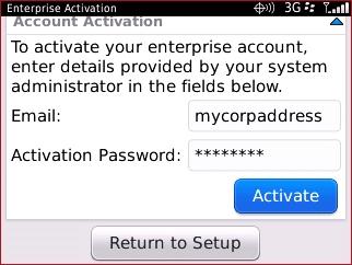 Enterprise Activation