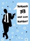 Verjaardagswensen 18 jaar kaartje