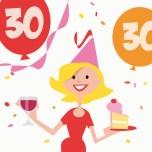 Verjaardagswensen 30 jaar kaartje