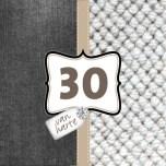 Verjaardagswensen kaartje 30 jaar