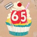 Verjaardagswensen kaartje 65 jaar