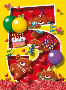 Verjaardagswensen 5 jaar