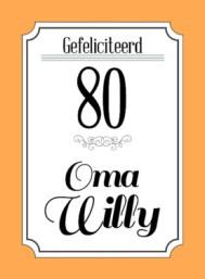 Verjaardagswensen 80 jaar
