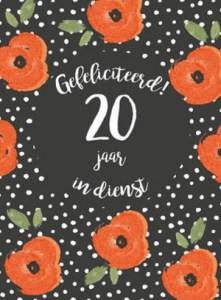 20 jaar in dienst