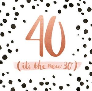 Ongekend Gefeliciteerd 40! 40 jaar man, vrouw, getrouwd en meer teksten! SH-32