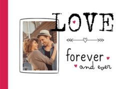 Love forever and ever kaart