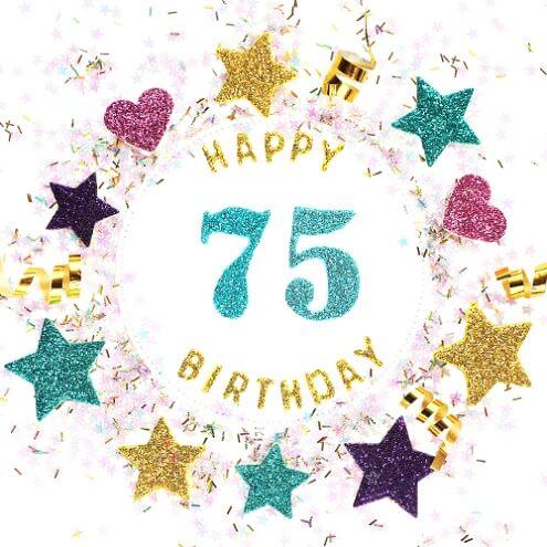 Verjaardagswensen 75 Jaar Felicitatie Teksten En 75e