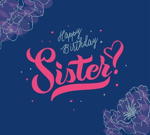 Super Gefeliciteerd met je zus! Verjaardagswensen en kaartjes. UG-05