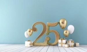 Verjaardag 25 jaar