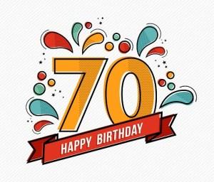 Verjaardag 70 jaar