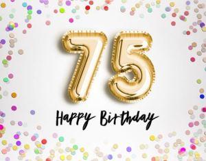 Verjaardag 75 jaar