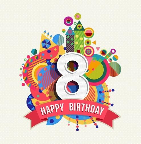 Verjaardagswensen 8 Jaar Gefeliciteerd Met Je 8e Verjaardag