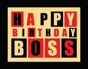 Verjaardag baas