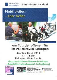 Tag der offenen Tr im Polizeirevier Eislingen: www ...