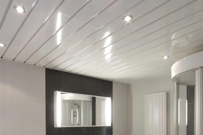Aluminium plafond badkamer u verlaagd plafond plaatsen