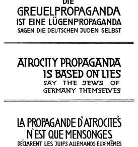 Jakow Trachtenberg: Die Greuelpropaganda ist eine Lügenpropaganda sagen die deutschen Juden selbst