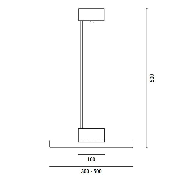 Technische tekening Bar 500 - Verlichting van Toen